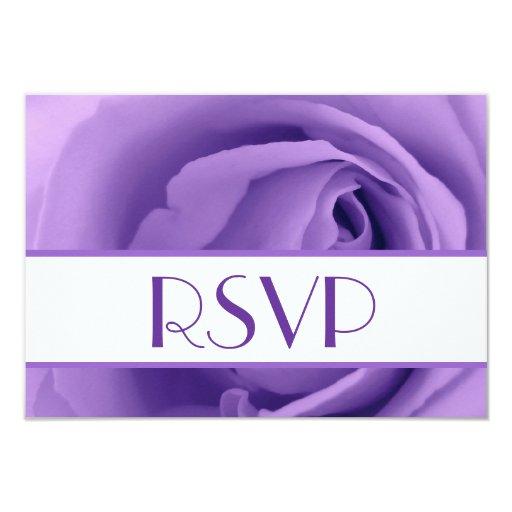 """RSVP color de rosa púrpura que casa la respuesta Invitación 3.5"""" X 5"""""""