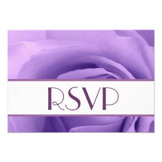 RSVP color de rosa púrpura que casa respuesta Comunicado Personal