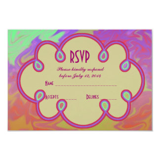 RSVP Colorful Artsy Splash Card