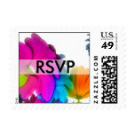 RSVP-colorful flowers Stamps