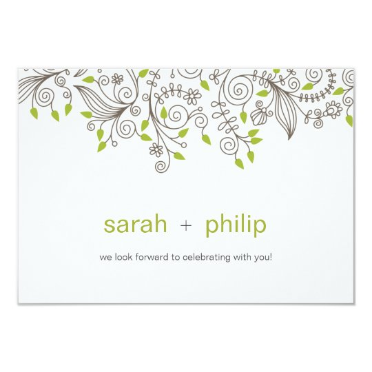 RSVP - Contemporary Casual Floral Swirls Card