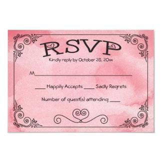 RSVP Cotton Candy Pink Watercolor Heart - No Menu Card