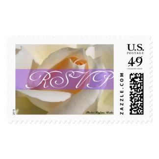 RSVP Cream White Rose Postage