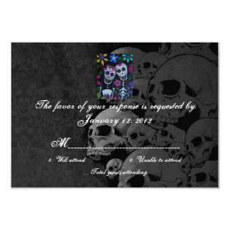 RSVP Day of the Dead Wedding Cards
