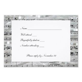 """Rsvp de Mozart y de las perlas con los sobres Invitación 3.5"""" X 5"""""""
