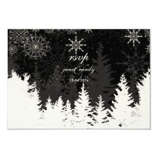 Rsvp de PixDezines alpino+Copos de nieve, color de Invitación 8,9 X 12,7 Cm