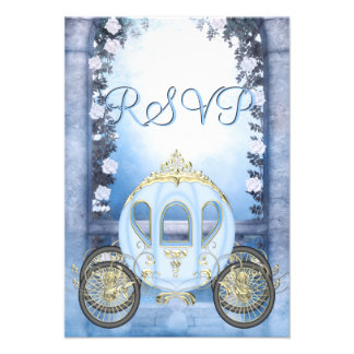 RSVP de princesa Carriage Enchanted azul