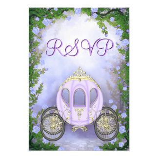 RSVP de princesa Carriage Enchanted púrpura