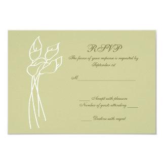 """Rsvp del boda de la cala invitación 3.5"""" x 5"""""""