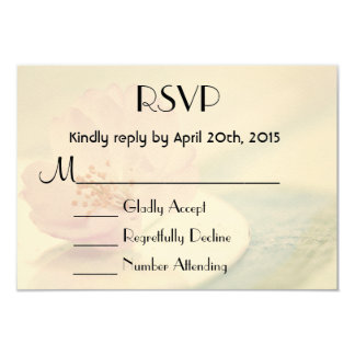 RSVP Delicate Soft Pink Cherry Blossom Flower Card