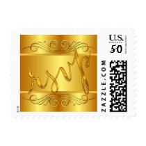 RSVP Elegant Glam Scroll Gold Foil | gold Postage