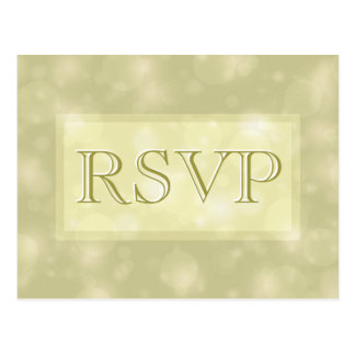 RSVP - Elegant Gold Bokeh Lights Postcard