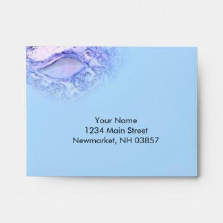 RSVP Elegant Masquerade Blue and Purple Envelope