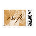 RSVP Elegant Sepia Floral - Customized Stamp