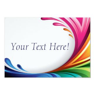 RSVP Elegant Swirling Rainbow Splash - 4 Card