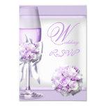 RSVP Elegant Wedding Lavender Purple Lilac 3 3.5x5 Paper Invitation Card