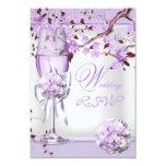 RSVP Elegant Wedding Lavender Purple Lilac 4b Invites