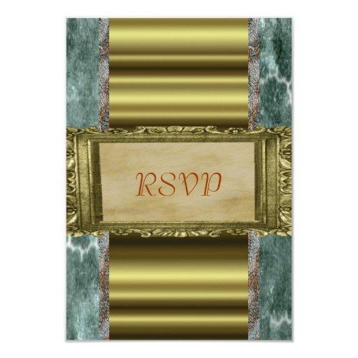 """RSVP elegante Invitación 3.5"""" X 5"""""""