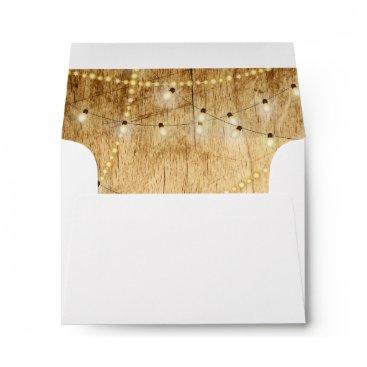 langdesignshop RSVP envelope wood and string lights