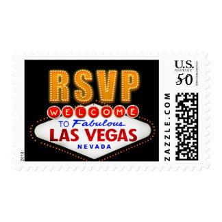 RSVP Fabulous Las Vegas Sign Casino Night RSVP Postage