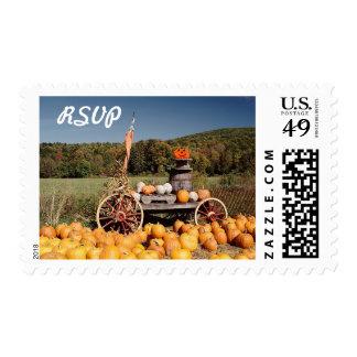 RSVP Fall Season Wedding Invitation Postage Stamps