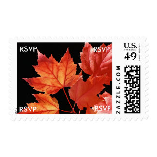 RSVP Fall Wedding Invitations Postage Stamps