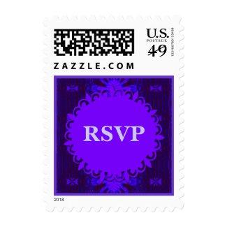 RSVP Fancy Dark Purple Blue Abstract Stamp