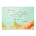 RSVP - Fancy Floral Wedding Response Cards Personalized Announcement