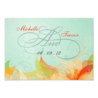 "RSVP - Fancy Floral Wedding Response Cards 3.5"" X 5"" Invitation Card"