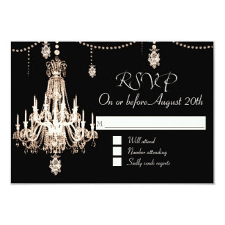 RSVP FAUX French Crystal Chandelier Pearl Shower Card