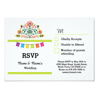 RSVP Fiesta Mexican Print Cards  Wedding Party