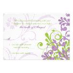 Rsvp floral abstracto blanco verde púrpura del bod
