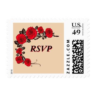 RSVP Floral Stamp