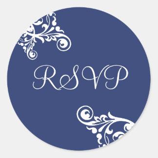 RSVP Flourish Envelope Sticker Seal