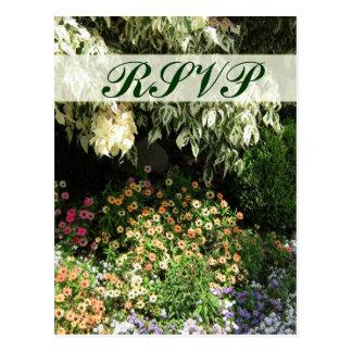 RSVP flower garden Postcards