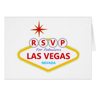 RSVP For Fabulous Las Vegas Card