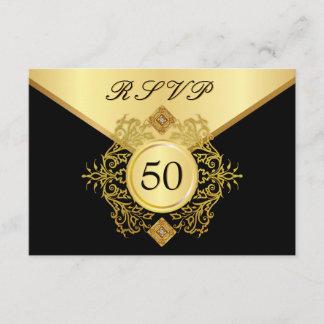 RSVP Formal Gold Black 50th Birthday Anniversary