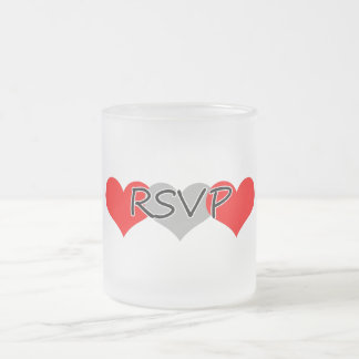 RSVP FROSTED GLASS COFFEE MUG