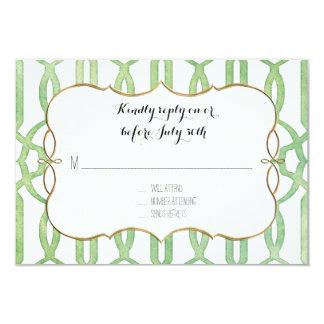 RSVP Garden Trellis Pattern Green Modern Simple Card