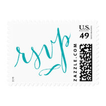 RSVP Glam Handwriting | CHOOSE YOUR TEXT COLOR Postage