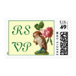 RSVP Gnome with a Rose Stamps