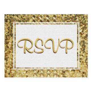RSVP Gold Sequin Postcard