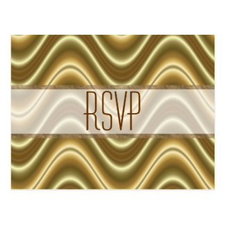 RSVP gold wave Postcard
