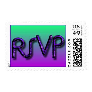 RSVP Green n Plum Postage