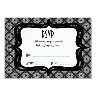 RSVP Grey Black Criss Cross Card