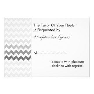 Rsvp gris 3,5 x 5 del boda de Ombre del galón de l Anuncios Personalizados