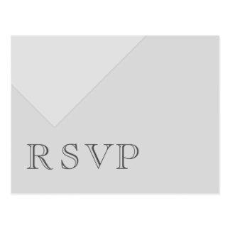 RSVP gris básico asimétrico mínimo Postal