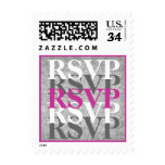 RSVP gris y rosado W06 que se casa moderno Franqueo