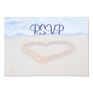 RSVP Guest Reply Enclosure Heart in Sand Card