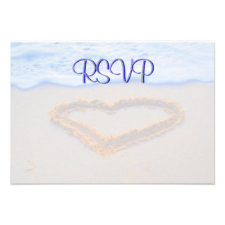 RSVP Guest Reply Enclosure Heart in Sand Invitations